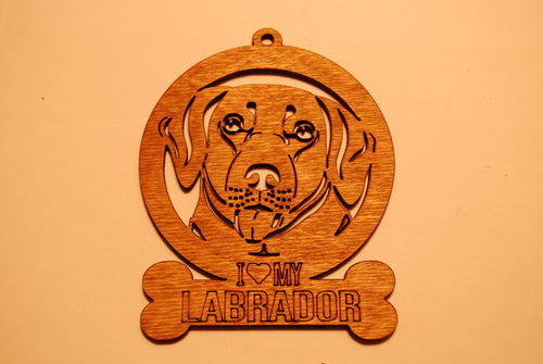 LABRADOR LASER CUT Dog Ornament