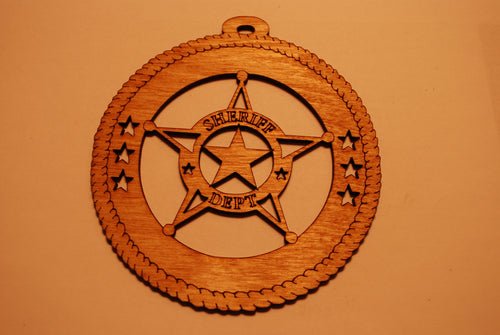 SHERIFF LASER CUT ORNAMENT