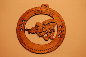 SEABEE VETERAN LASER CUT ORNAMENT