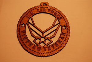 U.S. AIR FORCE VIETNAM VETERAN LASER CUT ORNAMENT