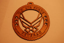 Load image into Gallery viewer, U.S. AIR FORCE VETERAN LASER CUT ORNAMENT