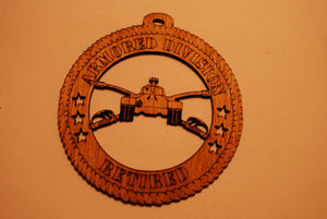 U.S. ARMORED DIVISION RETIRED LASER CUT ORNAMENT