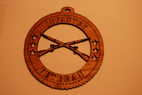 INFANTRY VETERAN LASER CUT ORNAMENT