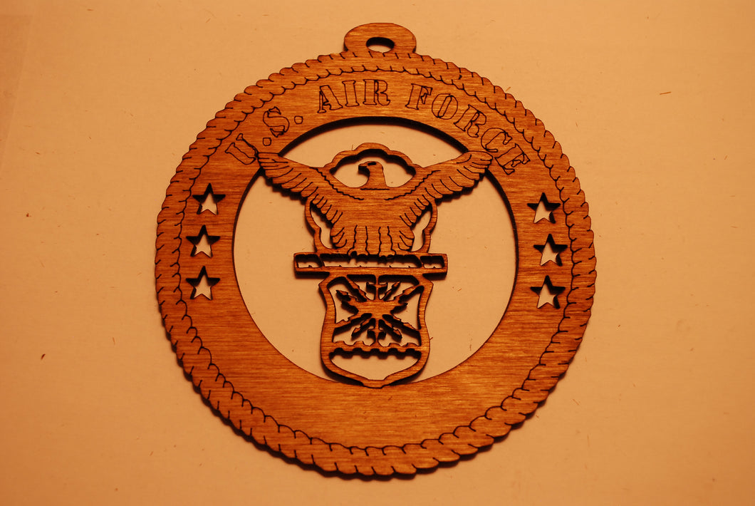 U.S. AIR FORCE LASER CUT ORNAMENT