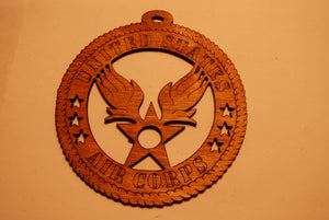 UNITED STATES AIR CORPS LASER CUT ORNAMENT