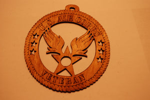 U.S. AIR CORPS VETERAN LASER CUT ORNAMENT
