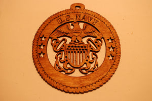 U.S. NAVY LASER CUT ORNAMENT
