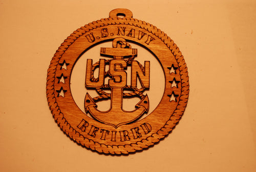 U.S. NAVY CHEIF LASER CUT ORNAMENT