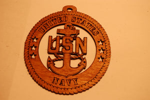 UNITED STATES NAVY  LASER CUT ORNAMENT