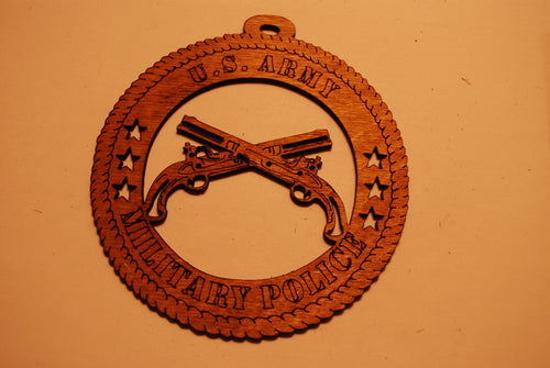 U.S. ARMY MILITARY POLICE  LASER CUT ORNAMENT