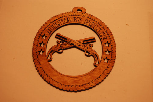 MILITARY POLICE  LASER CUT ORNAMENT