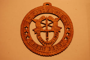 U.S. SPECIAL FORCES GREEN BERET LASER CUT ORNAMENT