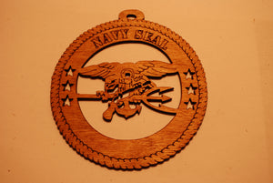 NAVY SEAL LASER CUT ORNAMENT