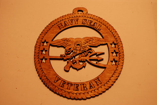 NAVY SEAL VETERAN LASER CUT ORNAMENT