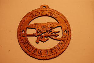 NAVY SEAL VIETNAM VETERAN LASER CUT ORNAMENT