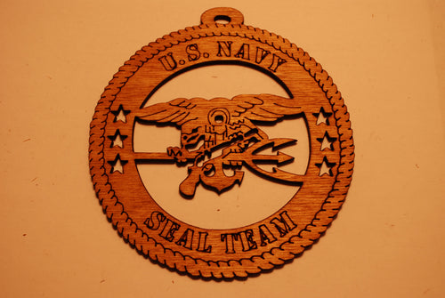 U.S. NAVY SEAL TEAM LASER CUT ORNAMENT