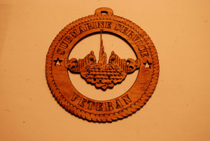 SUBMARINE SERVICE VETERAN LASER CUT ORNAMENT