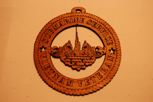 SUBMARINE SERVICE VIETNAM VETERAN LASER CUT ORNAMENT