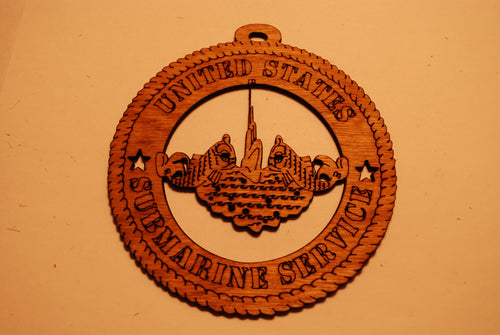 UNITED STATES SUBMARINE SERVICE LASER CUT ORNAMENT