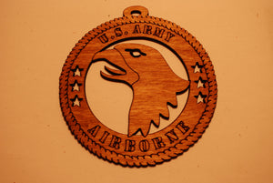 U.S. ARMY AIRBORNE LASER CUT ORNAMENT