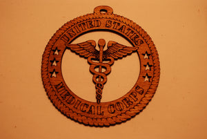 UNITED STATES MEDICAL CORPS  LASER CUT ORNAMENT