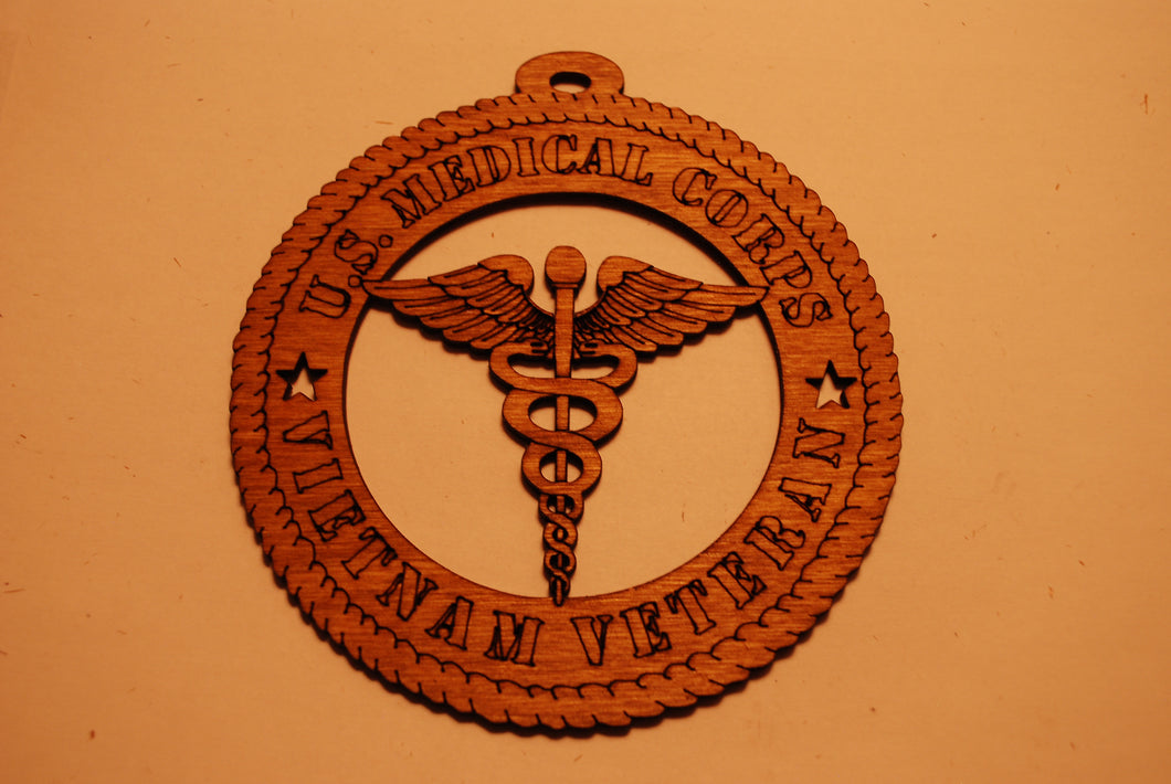 U.S. MEDICAL CORPS VIETNAM VETRAN  LASER CUT ORNAMENT