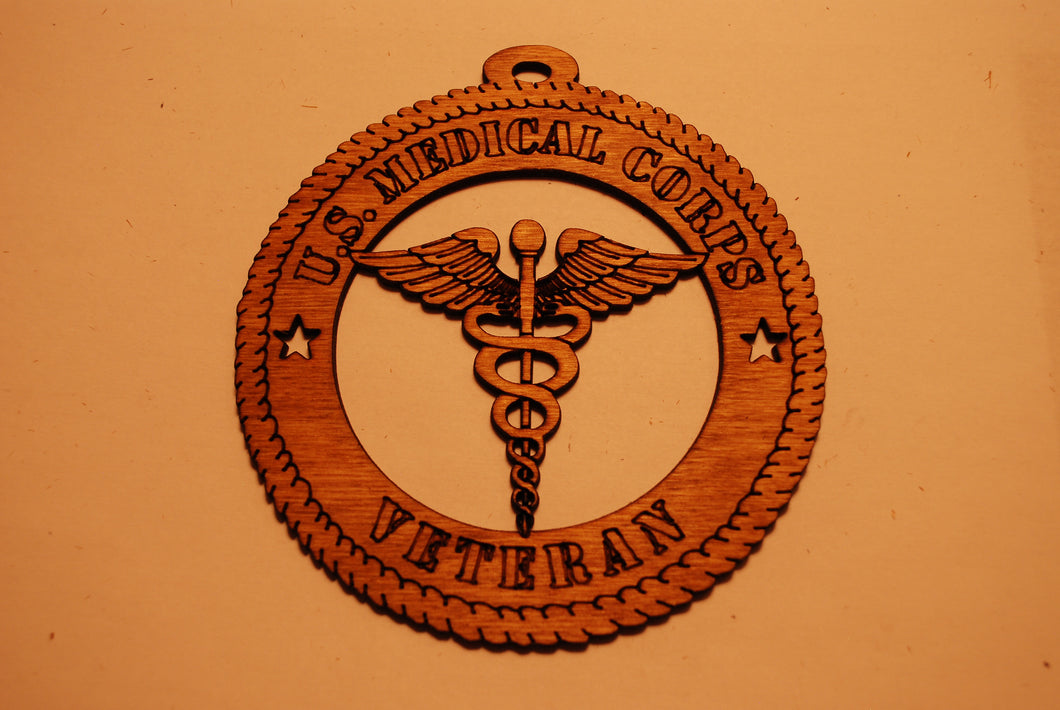 U.S. MEDICAL CORPS VETERAN LASER CUT ORNAMENT