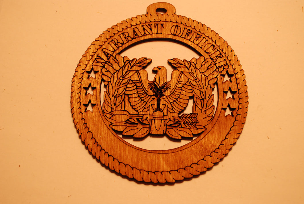 WARRANT OFFICER LASER CUT ORNAMENT