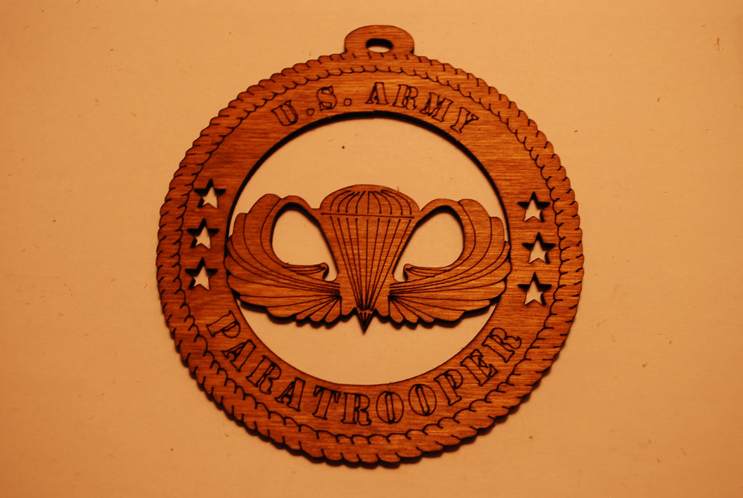 U.S. ARMY PARATROOPER LASER ORNAMENT