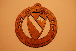 1ST CAVALRY LASER ORNAMENT