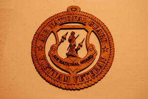 AIR NATIONAL GUARD VIETNAM VETERAN LASER ORNAMENT
