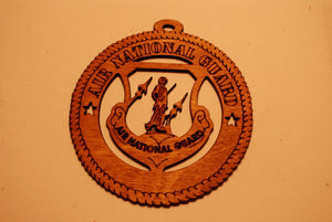 AIR NATIONAL GUARD LASER ORNAMENT