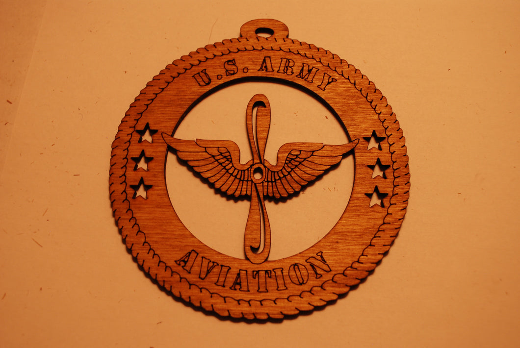 U.S. ARMY AVIATION LASER ORNAMENT
