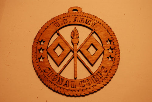 U.S. ARMY SIGNAL CORPS LASER ORNAMENT