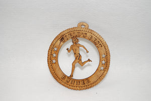 WORLDS BEST RUNNER LASER CUT ORNAMENT