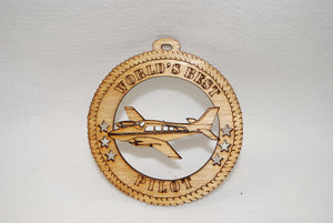 WORLDS BEST PILOT LASER CUT ORNAMENT