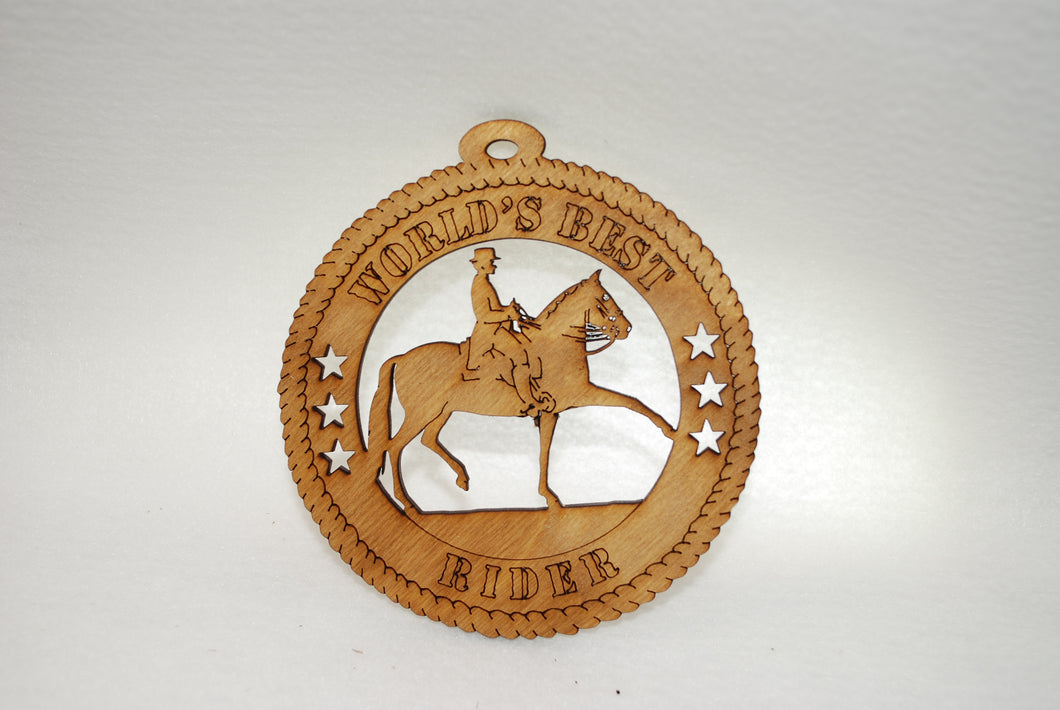 WORLD'S BEST RIDER  HORSE LASER CUT ORNAMENT