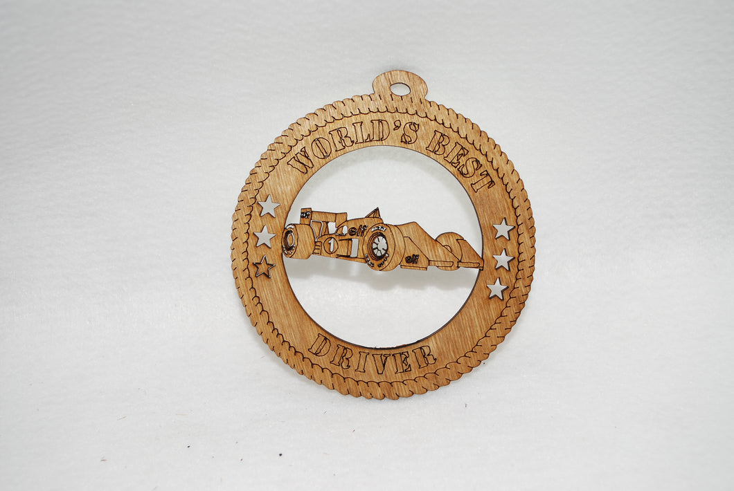WORLD'S BEST DRIVER  LASER CUT ORNAMENT