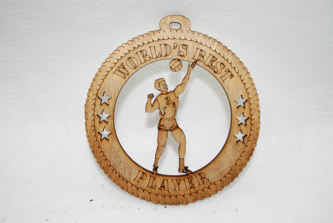 MALE WORLD'S BEST PLAYER VOLLEYBALL  LASER CUT ORNAMENT