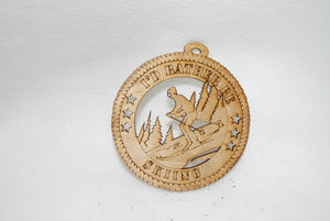 I'D RATHER BE SKIING LASER CUT ORNAMENT