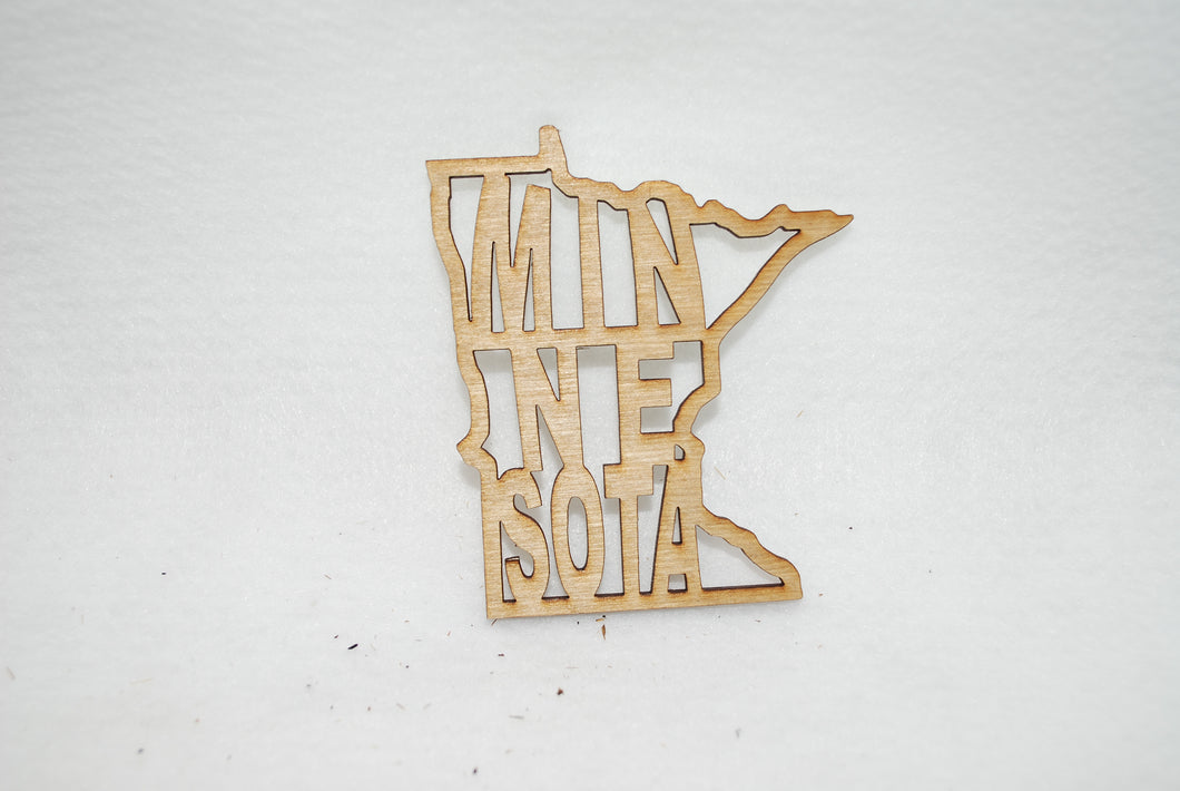 MINNESOTA  LASER CUT ORNAMENT