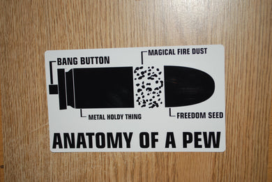 Anatomy Of A Pew  Sticker
