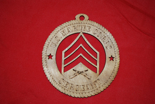 Copy of Marine Corps  Enlisted Sergeant wooden ornament