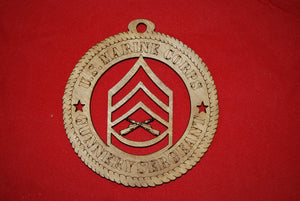Copy of Marine Corps  Enlisted Gunnery Sergeant wooden ornament