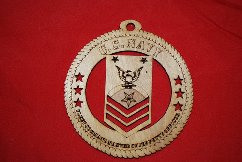 Navy Enlisted Fleet Command Master Chief Petty Officer  wooden ornament