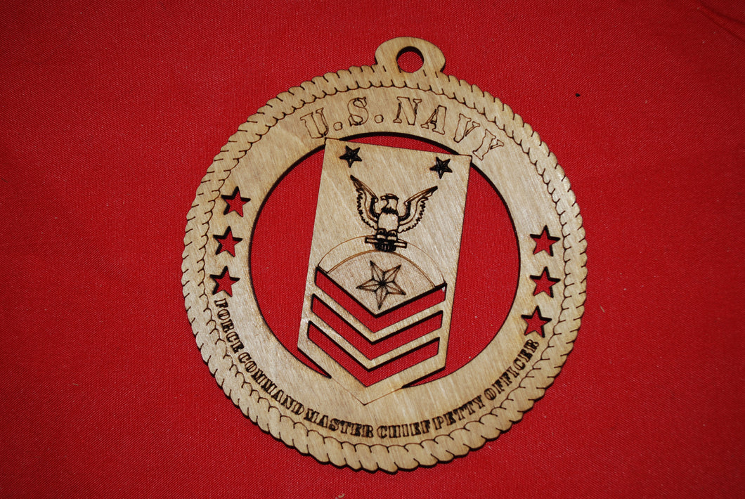 Copy of Navy Enlisted Force Command Master Chief Petty Officer  wooden ornament