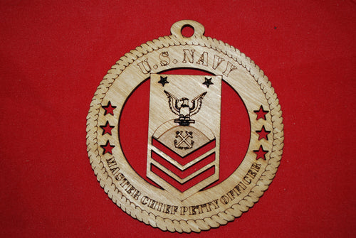 Navy Enlisted  Chief Master Petty Officer  wooden ornament