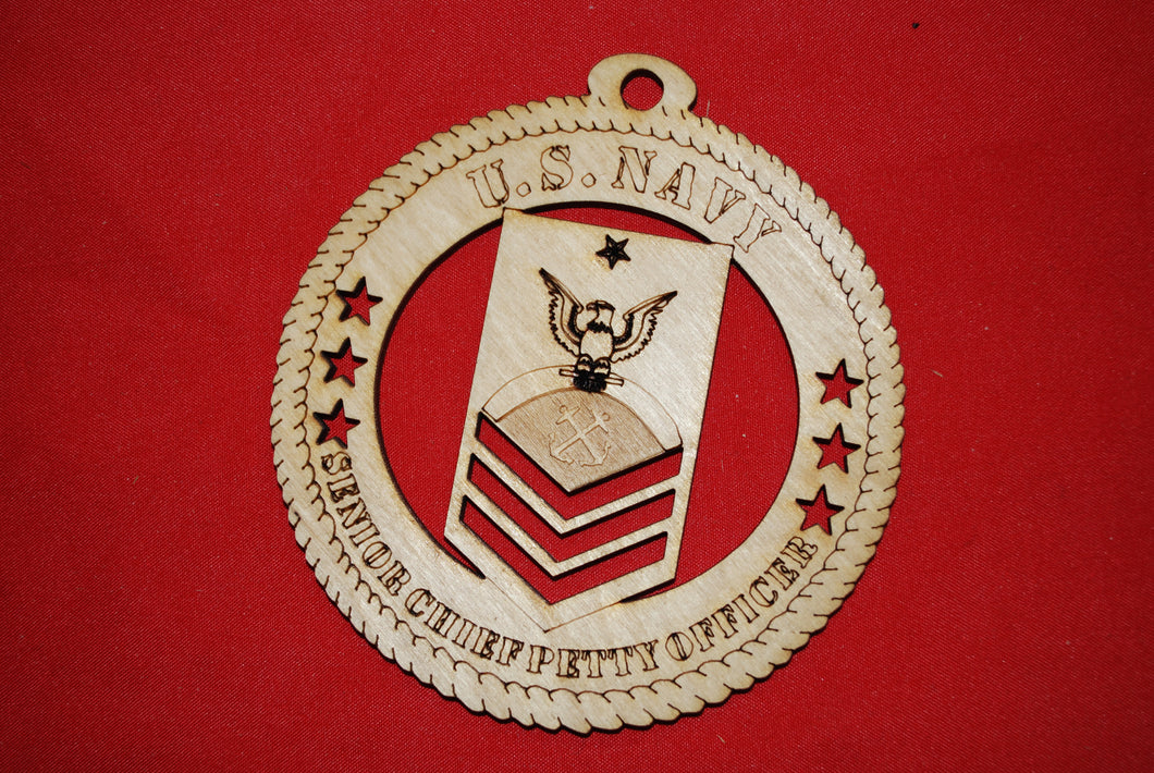Navy Enlisted Senior Chief Petty Officer  wooden ornament