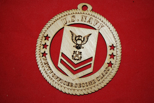 Navy Enlisted Petty Officer Second Class  wooden ornament