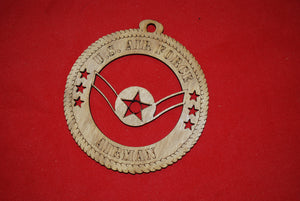 Air Force  Enlisted Rank Insignia  Airman  wooden ornament
